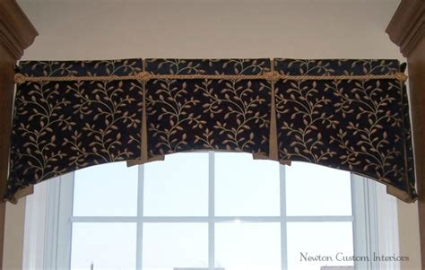 Kitchen Window Coverings Ideas Box Pleated Valance With Arched Bottom Newton Custom