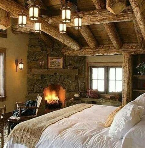 Cozy Bedroom With Fireplace 50 Rustic Bedroom Decorating Ideas Decoholic