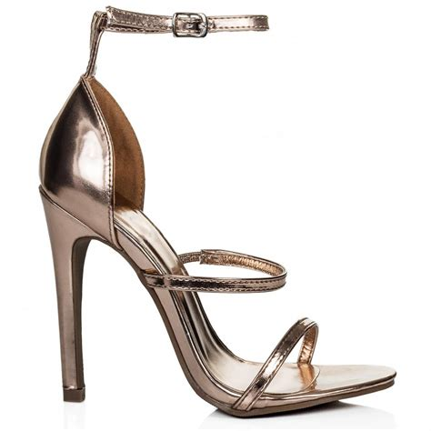 Sandal Crome buy xamba stiletto heel peep toe strappy sandal shoes gold chrome patent
