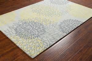 Grey And Yellow Area Rug Stella Collection Tufted Area Rug In Grey Yellow Design By Chan Burke Decor
