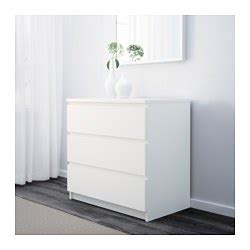 lade comodino ikea malm chest of 3 drawers white 80x78 cm ikea