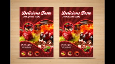 flyer design youtube coreldraw x7 tutorial food flyer design with as graphics