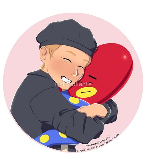 kim taehyung bt21 quot taehyung and tata bts bt21 quot by feli collante redbubble