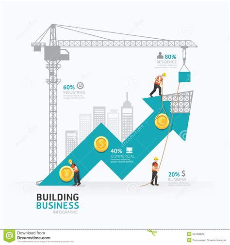 concept design vs illustration infographic business arrow shape template design building