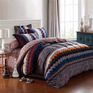 Blue Stripe Duvet Navy Blue Orange And Brown Aztec Zigzag Stripe
