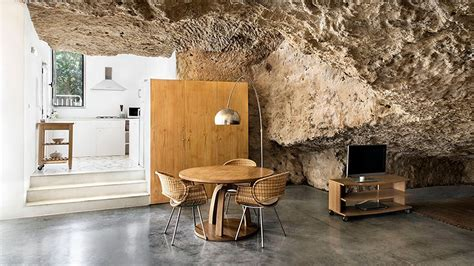 rent  daring modern cave house  spain curbed