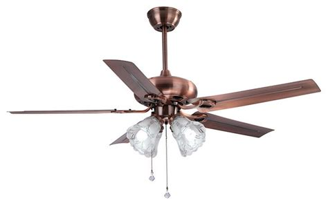 antique bronze finish ceiling fan with 4 glass shade