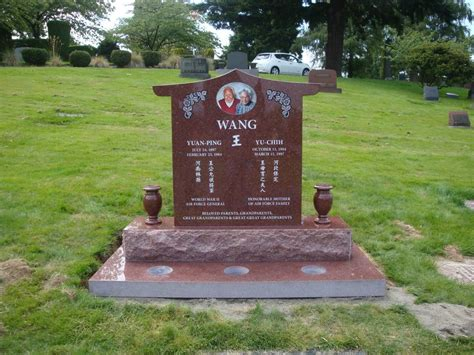 Companion Bench Chinese Headstones Monuments Amp Memorials Pacific Coast
