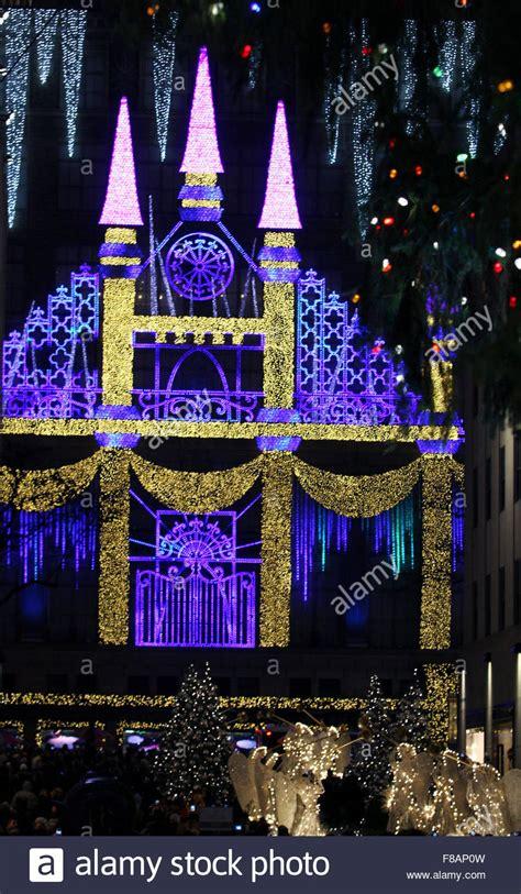 new york new york usa 07th dec 2015 christmas lights