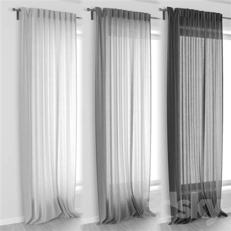 ikea curtains aina 3d models curtain ikea aina curtains