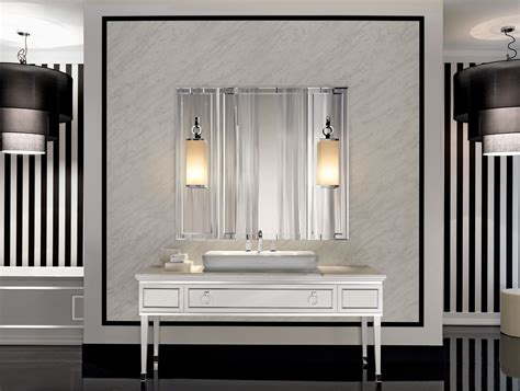 contemporary bathroom mirrors for stylish interiors lutetia l3 luxury art deco italian bathroom furniture in