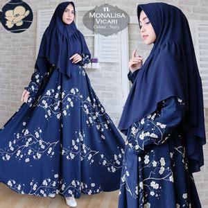 Baju Muslim Wanita Gamis Syari Bergo Susun Ayushita Black ryn fashion