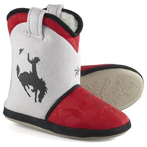cowboy boot house shoes boys cicciabella 174 cowboy up boot slippers white red 582822 casual shoes at