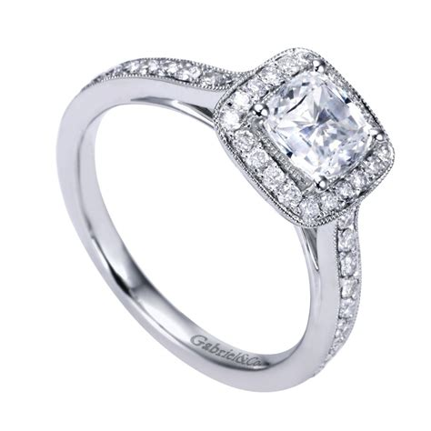 gabriel co engagement rings square halo 43ctw