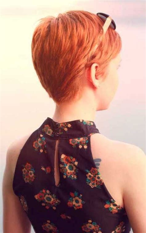 photos of the back of a haircut with a w neckline 20 back view of pixie haircuts pixie cut 2015