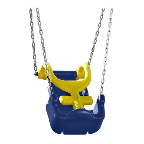 adaptive swings shop swing n slide adaptive blue yellow swing at lowes com