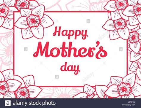 happy mothers day card template happy mothers day vector design element greeting card