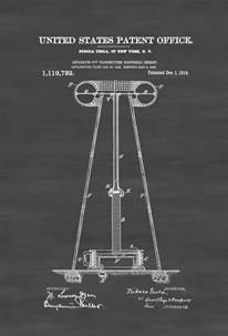 List Of Nikola Tesla Inventions Tesla Electricity Transmitter Patent 1914 Patent Prints
