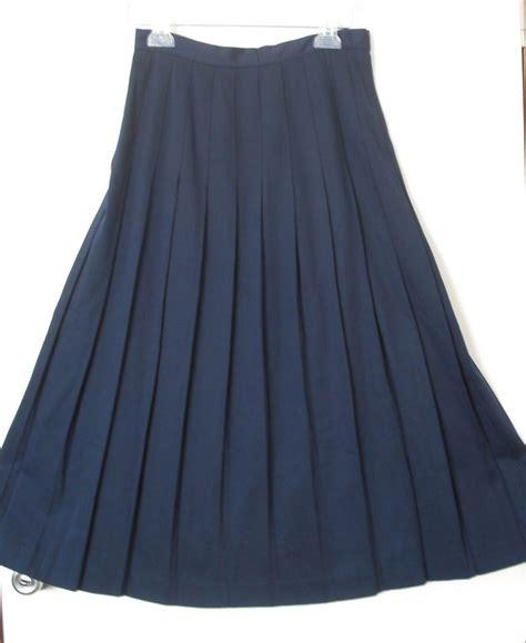 full swing maxi skirt vtg 80 s navy high waist pleated full swing maxi midi