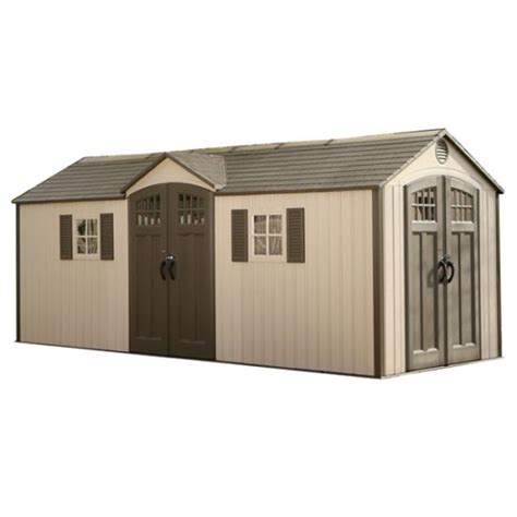 Lifetime Outdoor Storage Shed Lifetime Outdoor Storage Shed 60127 20x8 Dual Entry