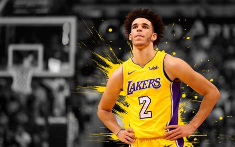 download wallpapers lonzo ball 4k basketball players