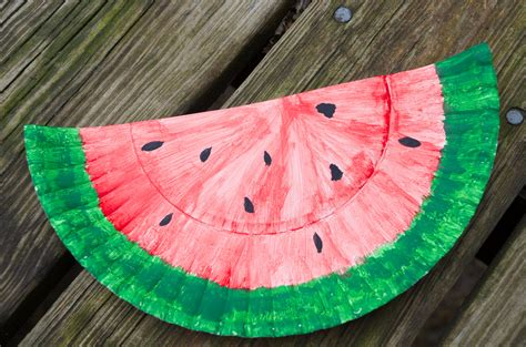 Watermelon Paper Craft - watermelon paper plate craft 20 recipes diy activities