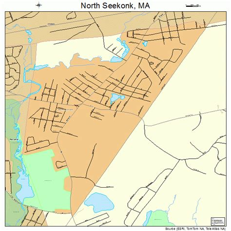 north seekonk massachusetts street map 2549200