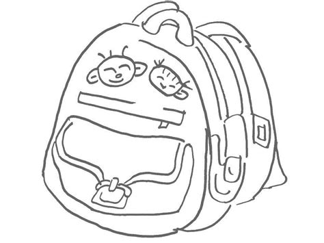school bag coloring page free coloring pages of schoolbag
