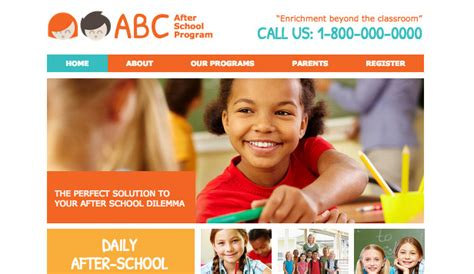 free college website templates in php education website templates community education wix