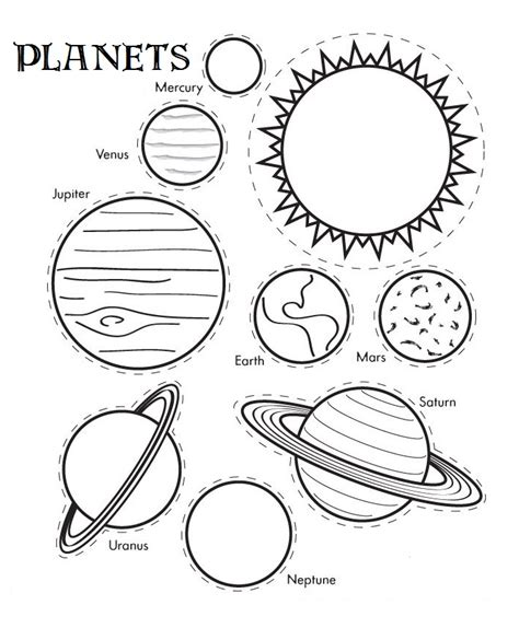 Printable Solar System Coloring Sheets For Kids Coloring Pages Of Solar System