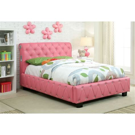 twin upholstered headboard kids furniture of america morella twin tufted upholstered