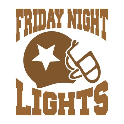 friday night lights pdf friday night lights football svg cuttable design