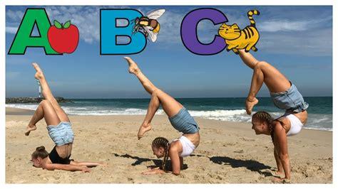 alphabet gymnastics challenge alphabet gymnastics challenge the rybka twins youtube