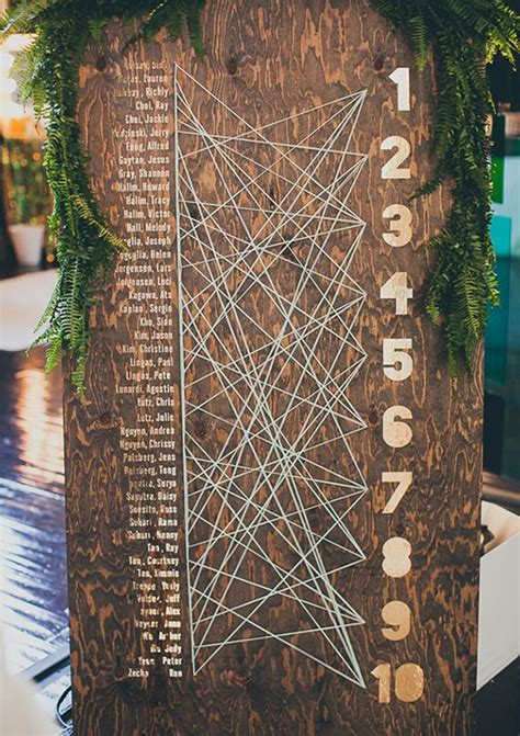 unique ideas 10 unique seating chart ideas your guests will love