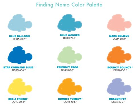 disney home color by behr nemo line disney color palette pinter
