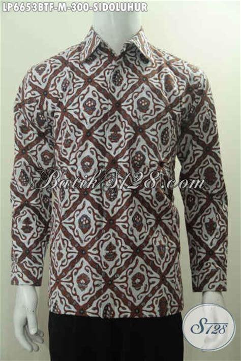 Kemeja Batik Klasik Lengan Panjang baju kemeja batik klasik khas yogyakarta baju batik motif sidoluhur model lengan panjang