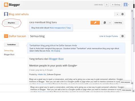 cara membuat blog baru serba ada cara membuat blog baru
