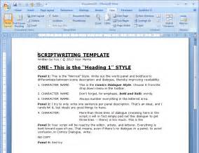 script template word oscar wilde comics a comic script template for word with