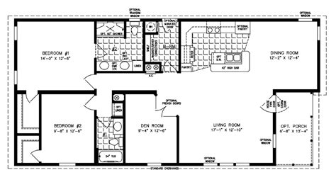 the imperial floor plan 2 bedroom manufactured home