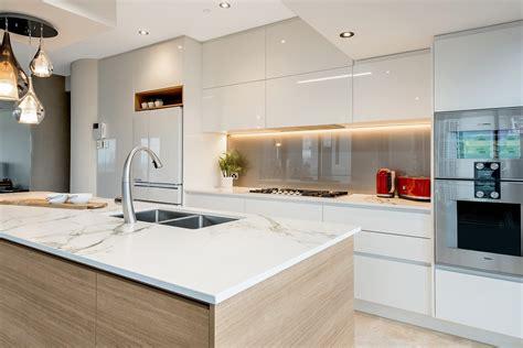 complete your kitchen kitchen lighting light industrial vinyl gloss caesarstone sleek concrete