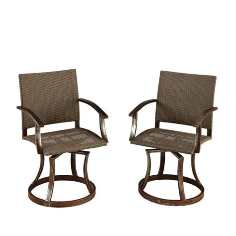 Swivel Chairs Outdoor by Home Styles Outdoor Swivel Chair Wrought Iron Chairs