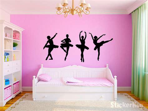 day one bedroom dancing dancing ballerinas girls nursery room vinyl wall decal