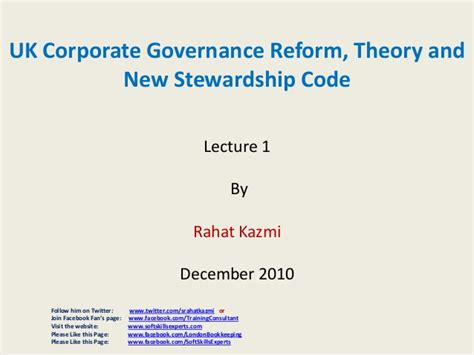 Mba Corporate Governance Uk by Uk Corporate Governance Reform Theory And New Stewardship
