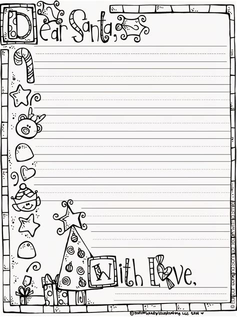letter to santa template colour in letter to santa freebie pinteres
