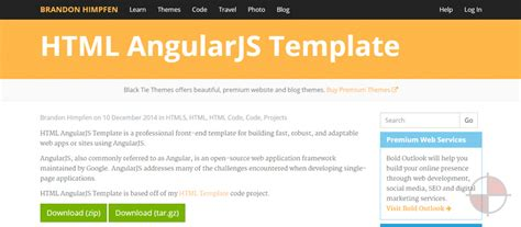10 Free Angularjs Templates Angularjs 4u Github Website Template