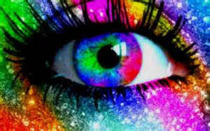 colorful eye the lambda sun wordless wednesday pride