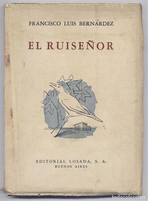 libro title el ruisenor bern 225 rdez francisco luis 1900 1978 el ruis comprar libros de poes 237 a en todocoleccion