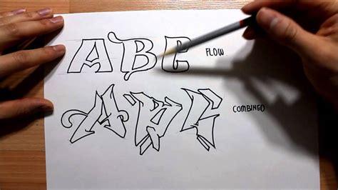draw graffiti letters step  step graphics