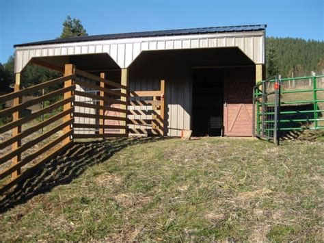Two Stall Horse Barn 12 215 24 2 Stall Horse Barn With 10 215 24 Lean To Shed Breezway