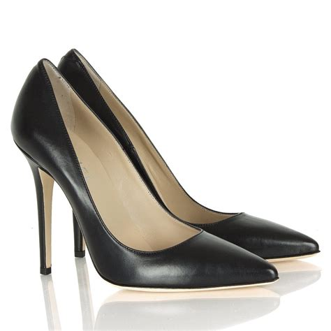 daniel mustio black leather court shoe